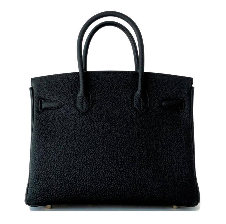Women's Hermes 30cm Black Togo Birkin Bag Gold Hardware GHW Chic