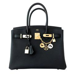 Hermes 30cm Black Togo Birkin Bag Gold Hardware GHW Chic