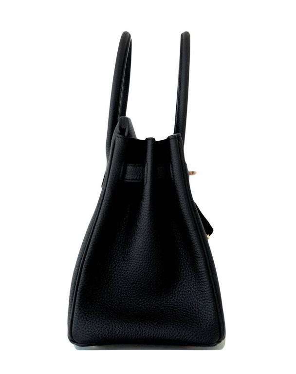 Hermes 30cm Black Togo Birkin Bag Gold Hardware GHW Chic 1