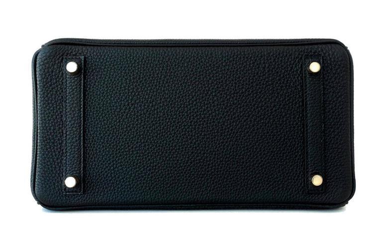 Hermes 30cm Black Togo Birkin Bag Gold Hardware GHW Chic 2