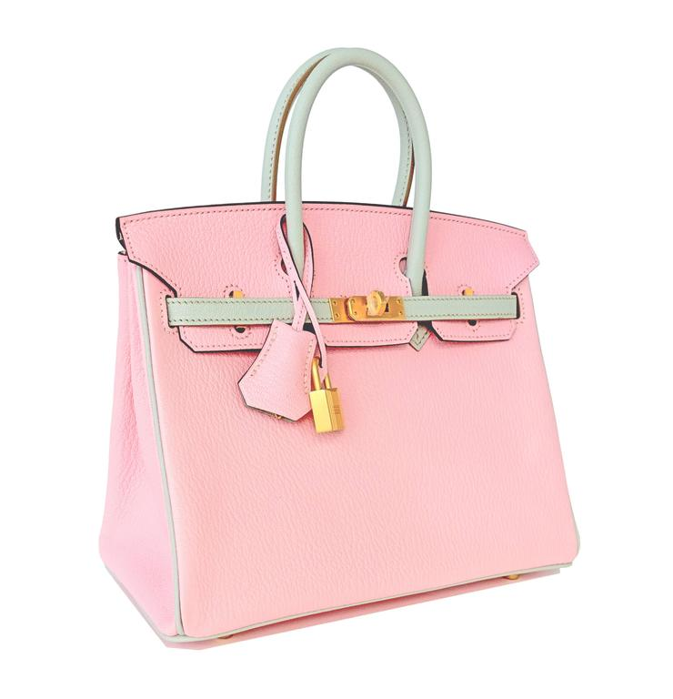 8cf2ad5f4332 HSS Hermes Rose Sakura Gris Perle 25cm Chevre Birkin Special Order  Horseshoe VIP In New Condition