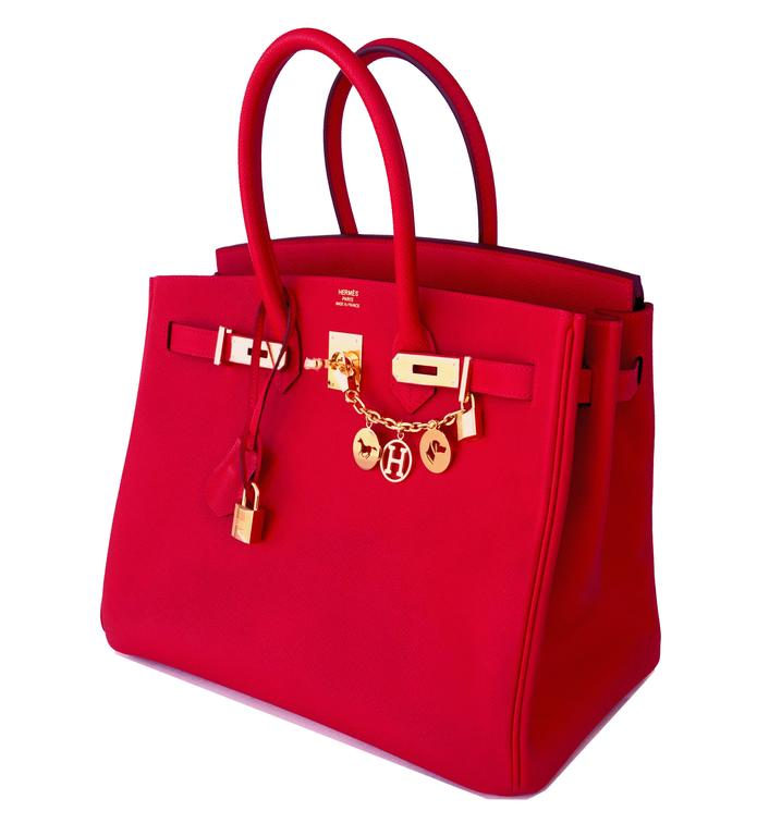 11eb850ac6 Hermes Rouge Casaque 35cm Birkin Red Epsom Gold Hardware Gorgeous Rare to  find store fresh 2016