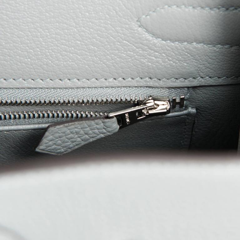 Hermes Gris Mouette New Grey 30cm Togo Birkin Bag Palladium Chic 8