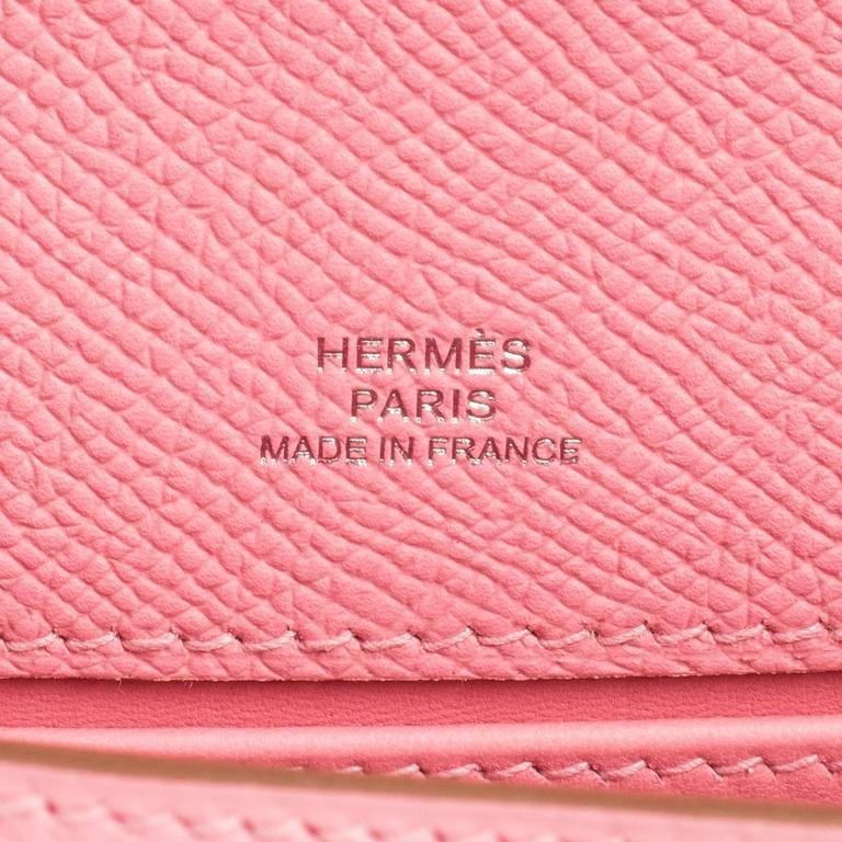 Hermes Rose Confetti Epsom Pink Pochette Cut Clutch Kelly Bag   For Sale 3