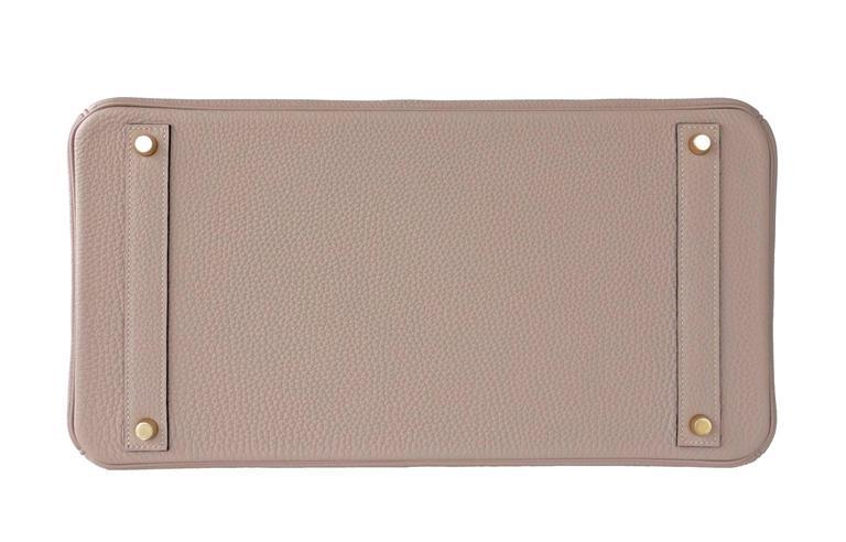 3a59e98851c0 Women s or Men s Hermes Gris Tourterelle 40cm Togo Birkin Gold Hardware  Tote Bag Superb X Stamp