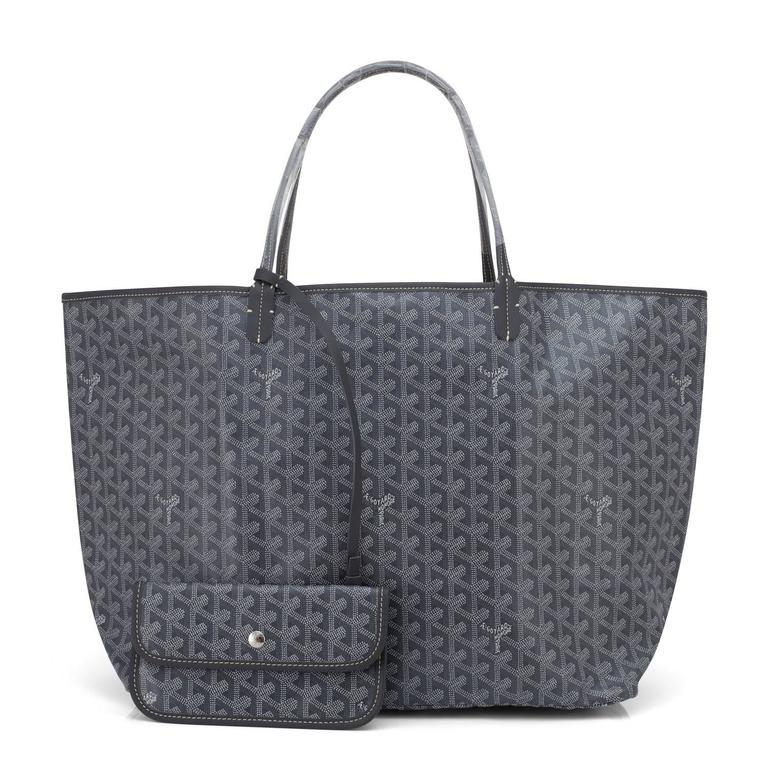 Goyard St Louis GM Grey Chevron Tote Bag Chic Brand New.  Store Fresh.  Pristine Condition (with plastic on handles) Perfect gift!  Comes with yellow Goyard sleeper and inner organizational pochette. This is the cult-favorite Goyard Chevron Tote in