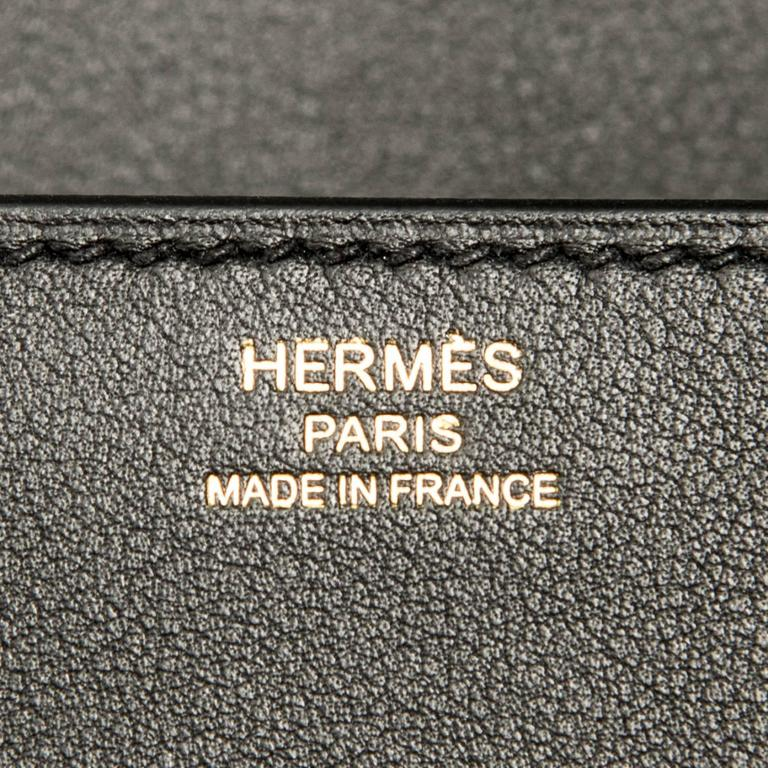 Hermes Black Medor Clutch Swift Leather Gold Hardware Elegant For Sale 3