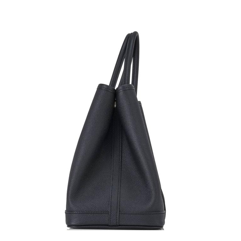 Hermes Black TPM Epsom Garden Party Tres Petite Modele Tote Bag 30cm Rare Brand New in Box.  Store fresh. Pristine condition. Perfect gift! Comes with Hermes sleeper and signature orange box. Hermes Garden Party in Black Epsom is an uber elegant