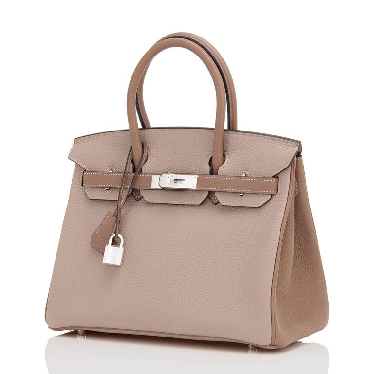 Hermes HSS Gris Tourterelle and Etoupe 30cm Birkin Palladium Hardware Exclusive 6