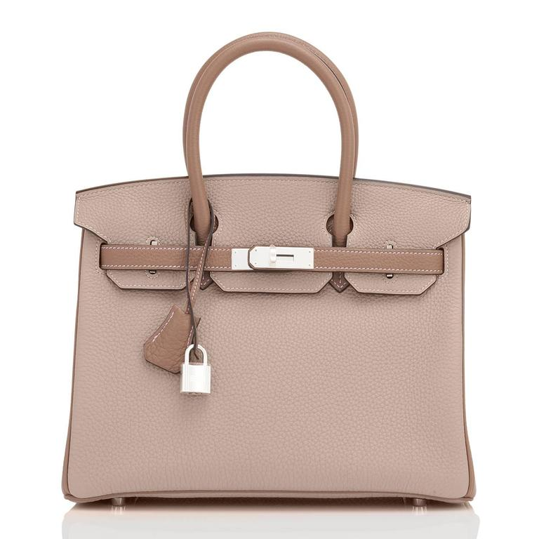 Hermes HSS Gris Tourterelle and Etoupe 30cm Birkin Palladium Hardware Exclusive 3
