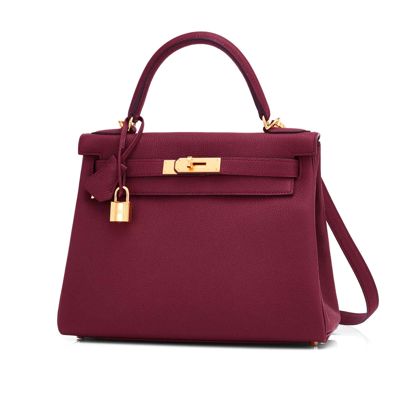 646b9c0f5678 Hermes Bordeaux 28cm Kelly Togo Gold Hardware Red Exquisite at 1stdibs