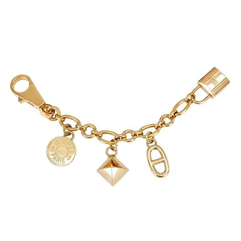 Hermes Olga Charm Permabrass Light Gold for Birkin or Kelly