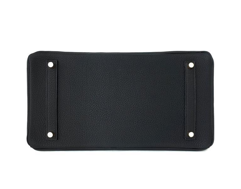 Celeb Fave Hermes Black Togo 35cm Birkin Gold Hardware GHW Power Birkin  For Sale 3