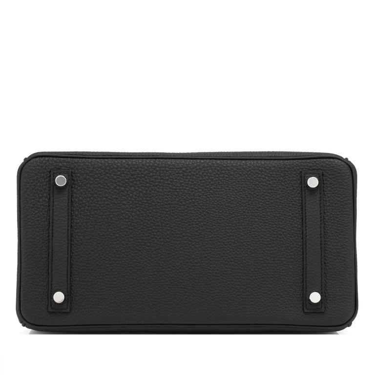 Hermes Black 30cm Birkin Togo Palladium Hardware Bag   1
