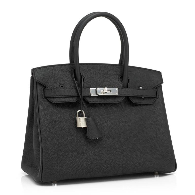 Hermes Black 30cm Birkin Togo Palladium Hardware Bag   2