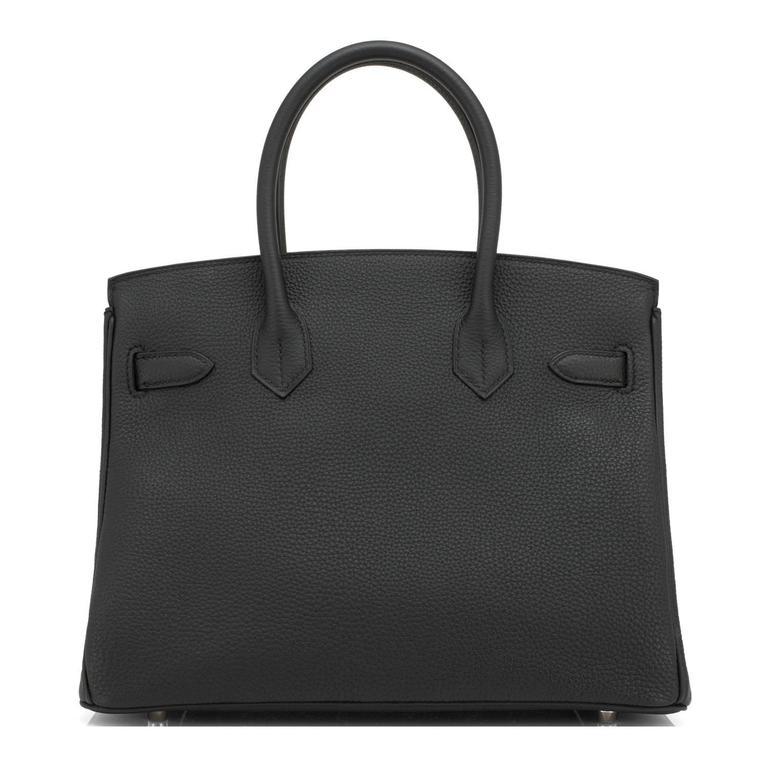 Hermes Black 30cm Birkin Togo Palladium Hardware Bag   In New Condition In New York, NY