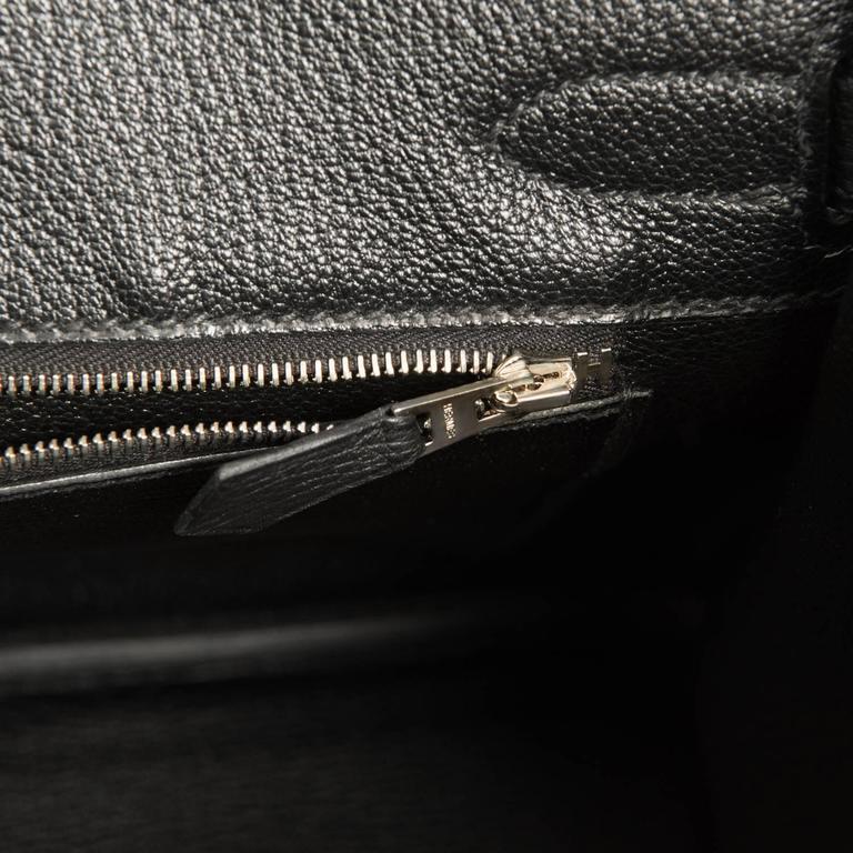 Hermes Black 30cm Birkin Togo Palladium Hardware Bag   4