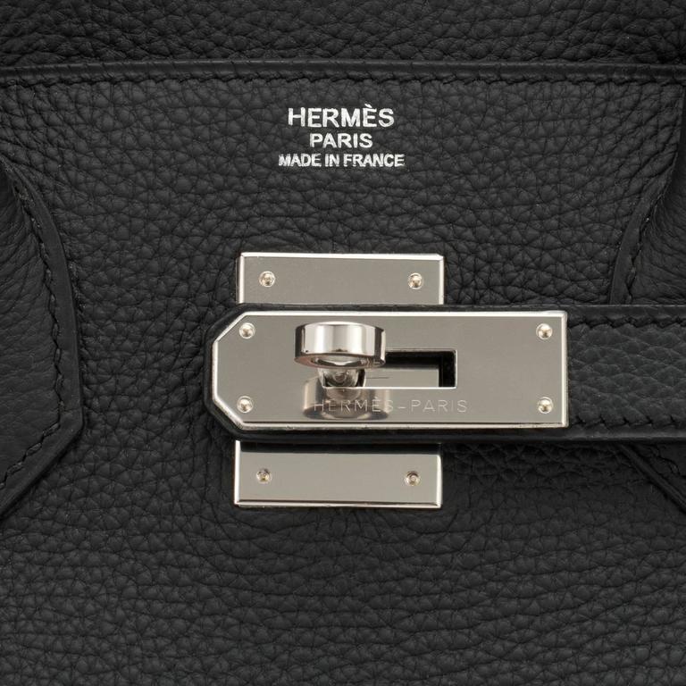Hermes Black 30cm Birkin Togo Palladium Hardware Bag   5