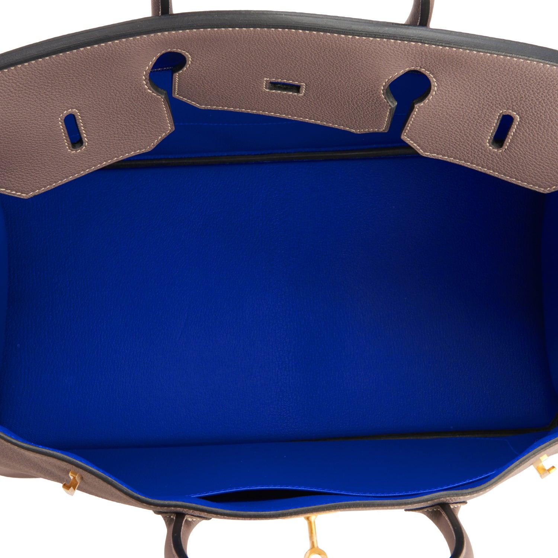 f423109299 Hermes HSS Etain Blue Electric Gris Perle Birkin 40cm Togo Gold Bi-Color  VIP at 1stdibs