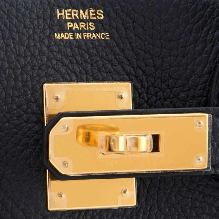 Hermes Black 30cm Birkin Bag Togo Gold Hardware Chic  For Sale 5