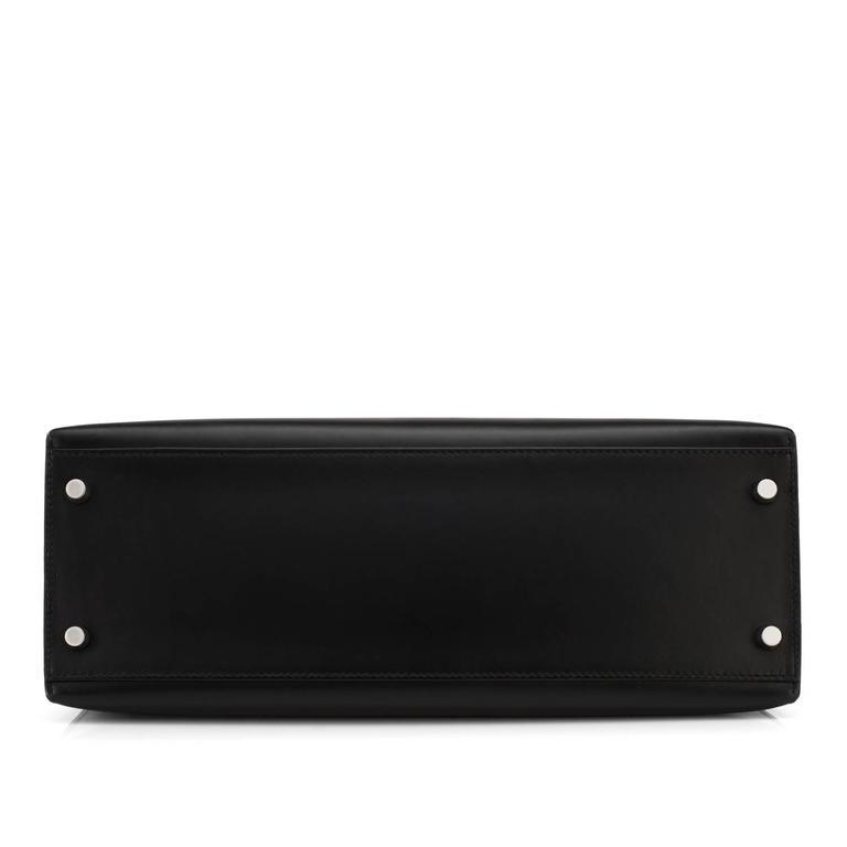 Hermes Black Box Kelly 32cm Shoulder Bag Palladium Hardware  1