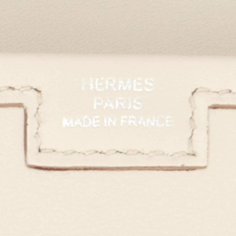 Hermes Beton Jige Elan 29cm Swift Off White Clutch Bag  For Sale 4