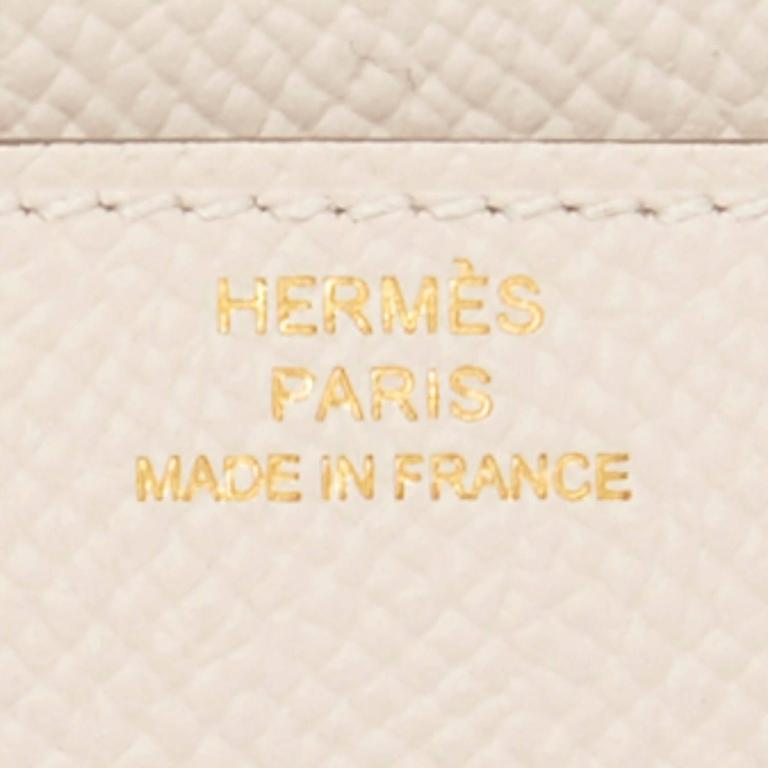 Hermes Craie Off White Constance Wallet Clutch Rose Gold Hardware 8