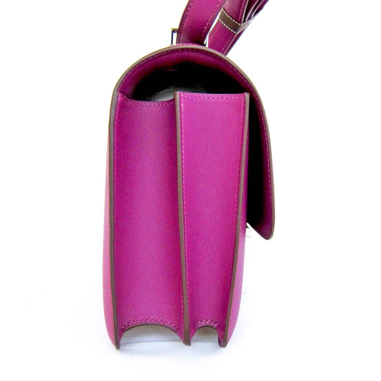 Hermes Anemone Constance MM Shoulder Palladium PHW Bag For Sale at ...