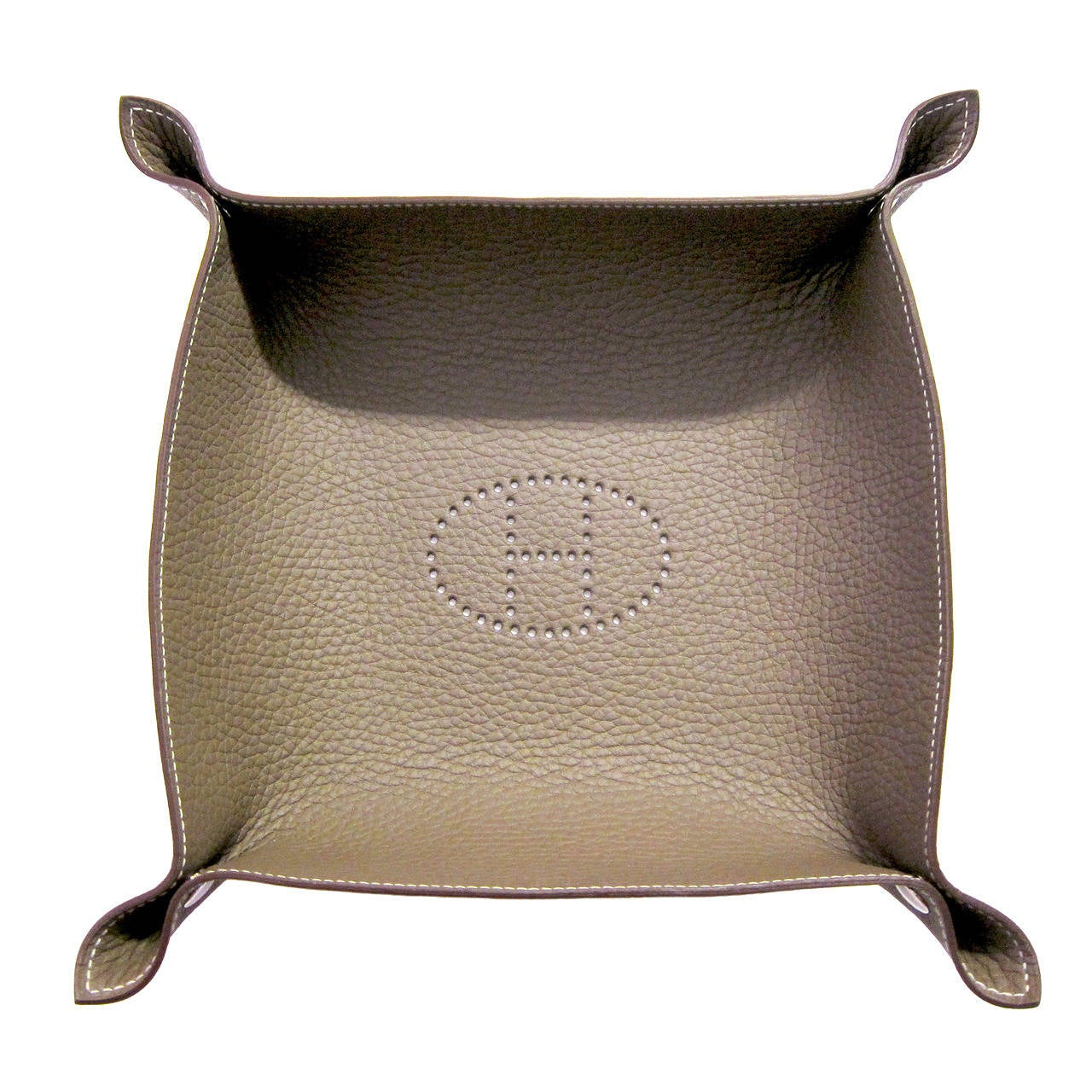 hermes leather tray