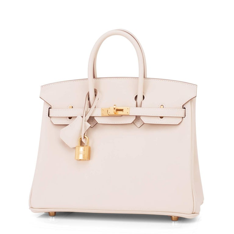 Hermes Craie Baby Birkin 25cm Swift Gold Hardware A Stamp Brand New in Box.  Store Fresh. Pristine Condition (with plastic on hardware) Just purchased from Hermes store; bag bears new 2017 interior A stamp. Perfect gift! Comes full set with keys,