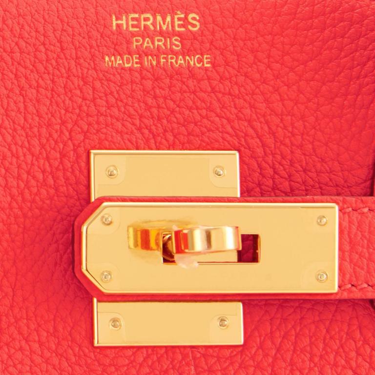 Hermes Capucine Red-Orange 35cm Togo Birkin Bag Gold Hardware at 1stdibs 0ce0dcb18b8c6