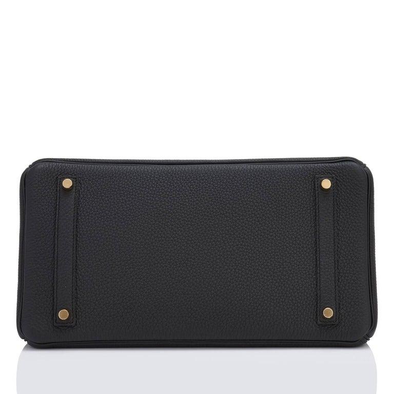 Hermes Black 35cm Birkin Togo Gold Hardware Power Birkin For Sale 2