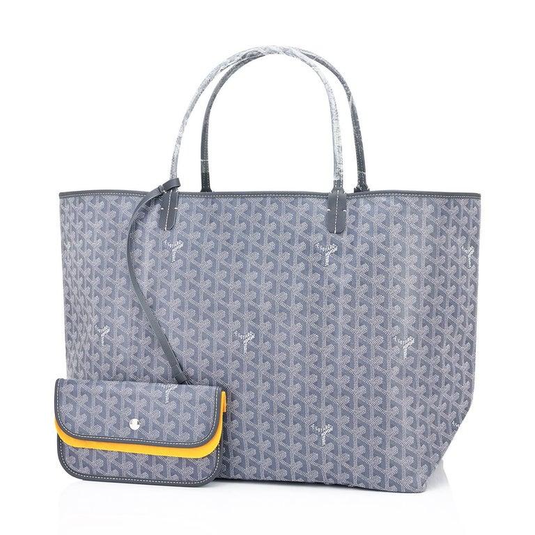 Goyard Grey St Louis GM Chevron Tote Bag Chic 2