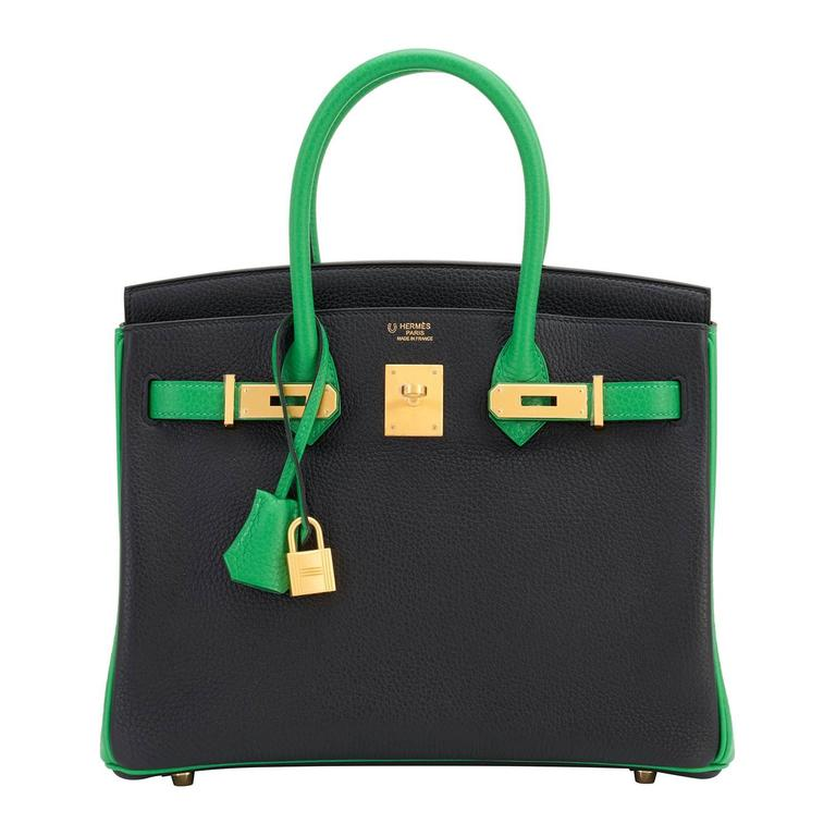 37c1239967a9 Hermes HSS Bamboo And Black Bi-Color 30cm Birkin Bag SO Gold Hardware  Exclusive For
