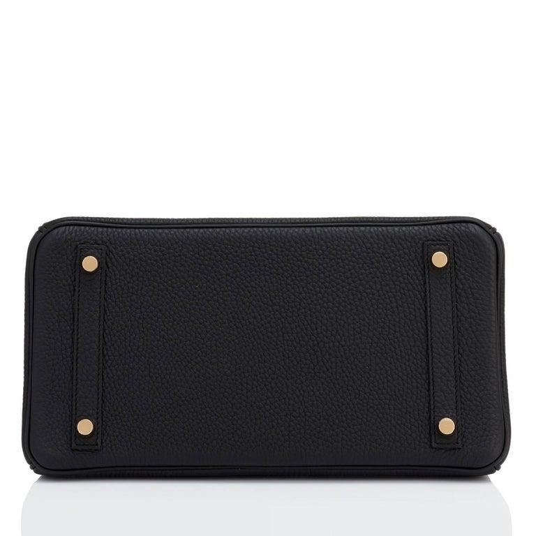 Hermes Black 30cm Birkin Bag Togo Gold Hardware A Stamp 4