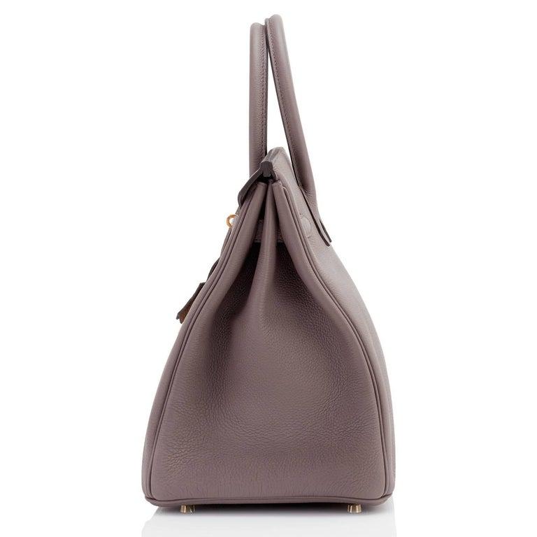 303b9ef28c7 Hermes Etain Togo 35cm Tin Grey Gold Hardware C Stamp Birkin Bag For Sale 2