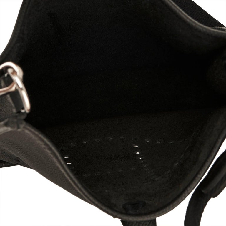 Hermes Black Evelyne TPM Shoulder Cross Body Messenger Bag 5