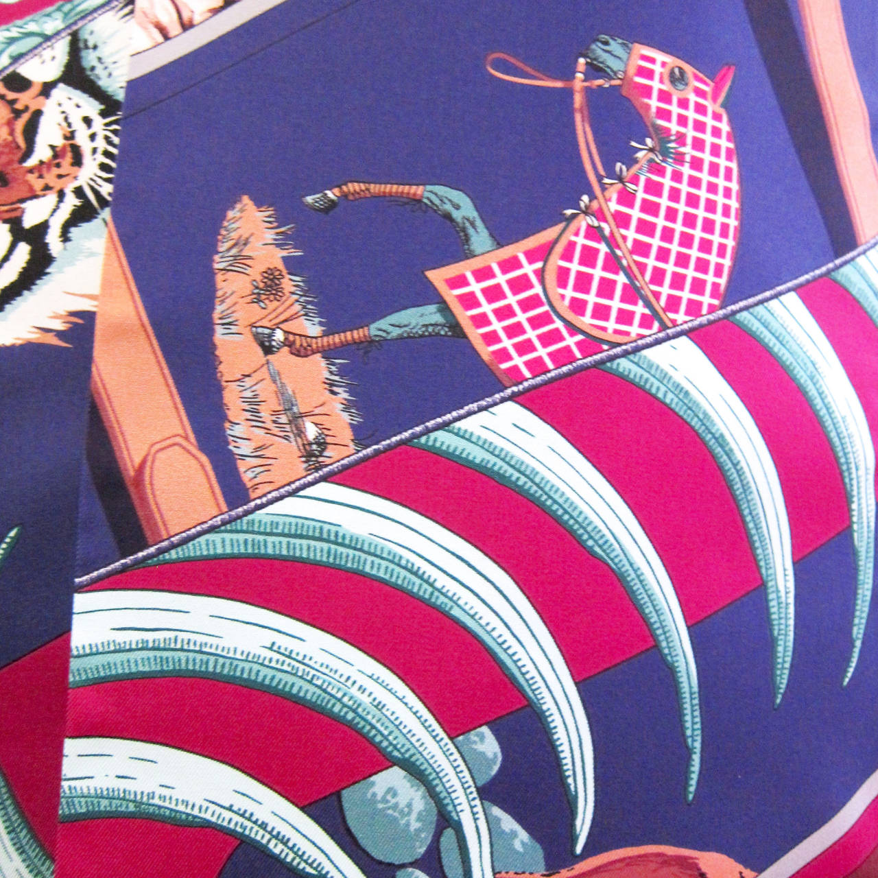 Hermes Carre en Carres Maxi Twilly Silk Scarf 2
