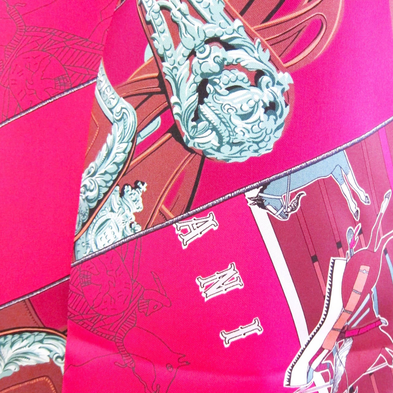 Hermes Carre en Carres Maxi Twilly Silk Scarf 5