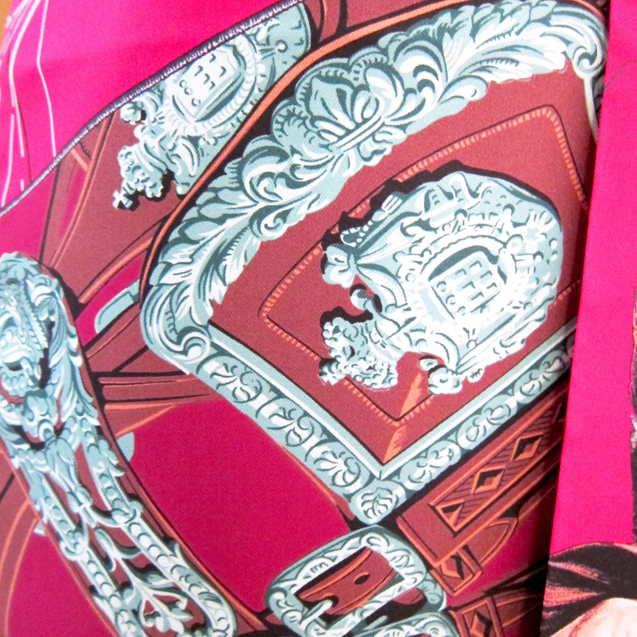 Hermes Carre en Carres Maxi Twilly Silk Scarf 6