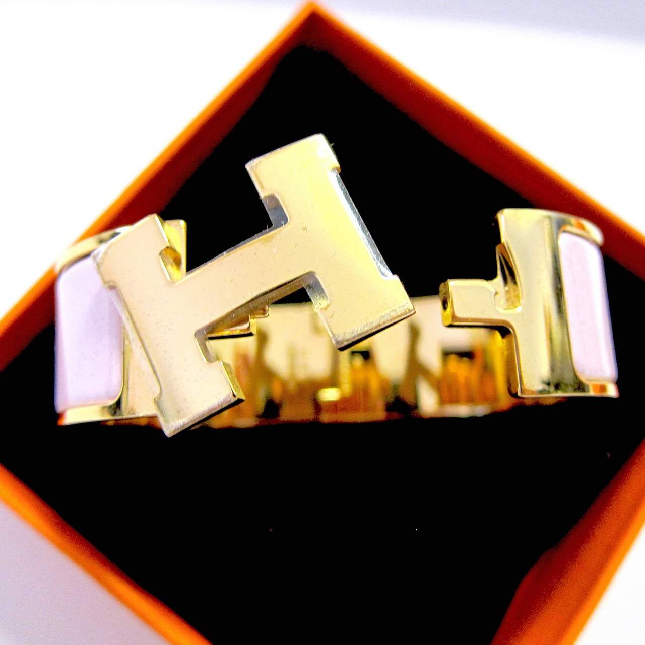 Hermes Rose Dragee Pink Clic Clac Gold Hardware Ghw Pm