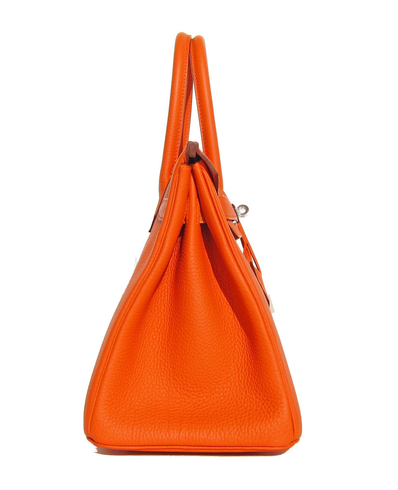 Hermes Feu Orange 30cm Togo Birkin Palladium Insane at 1stdibs