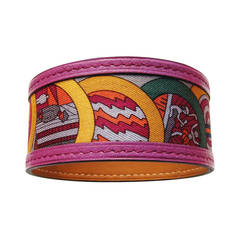 Hermes Petit H Silk Leather Bracelet One of a Kind World Exclusive