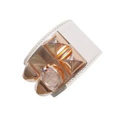 Hermes Craie Chalk ROSE GOLD Collier de Chien CDC Leather Bracelet Luscious