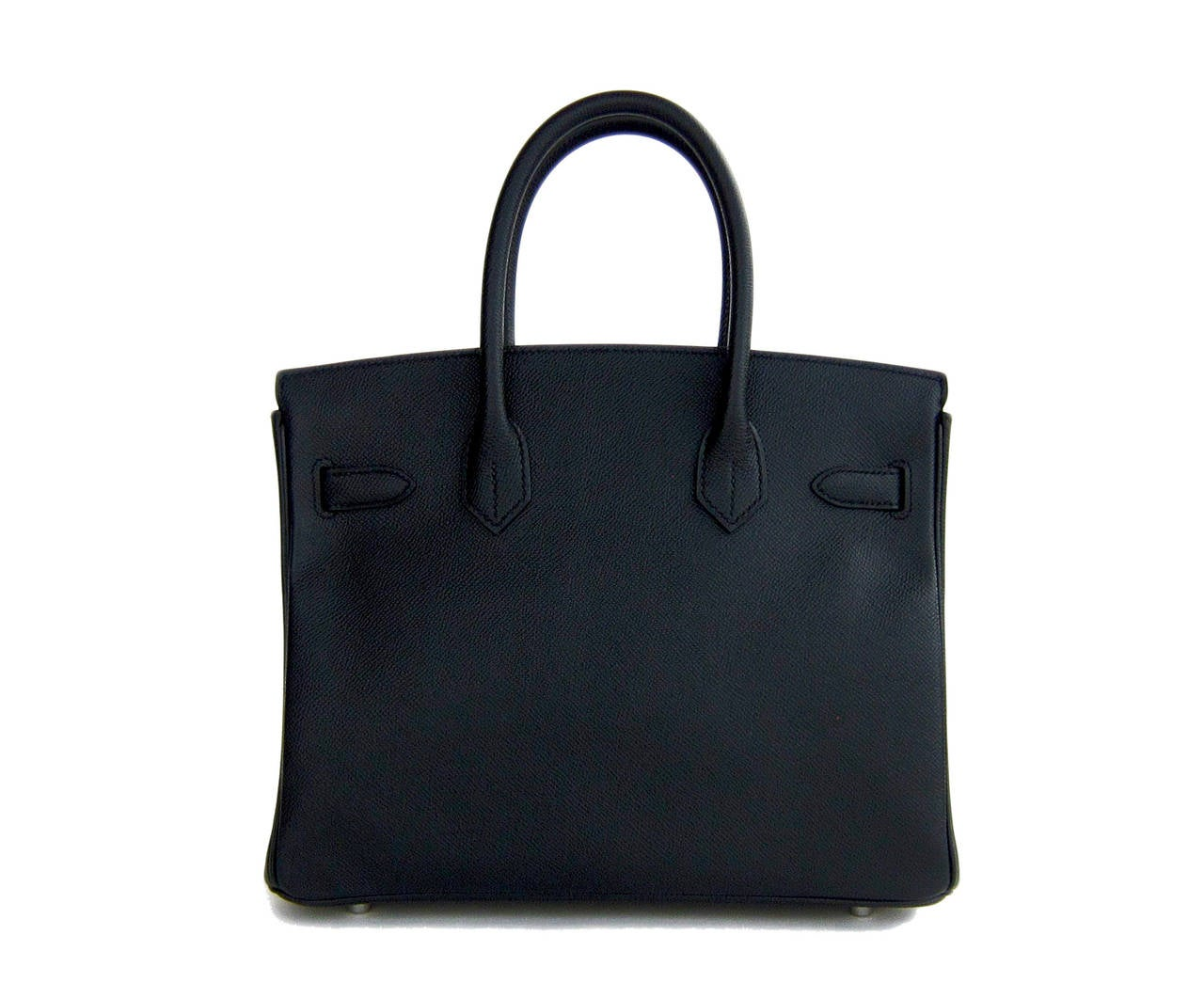Hermes Black Epsom 30cm Birkin Palladium Hardware Architectural In New never worn Condition For Sale In New York, NY