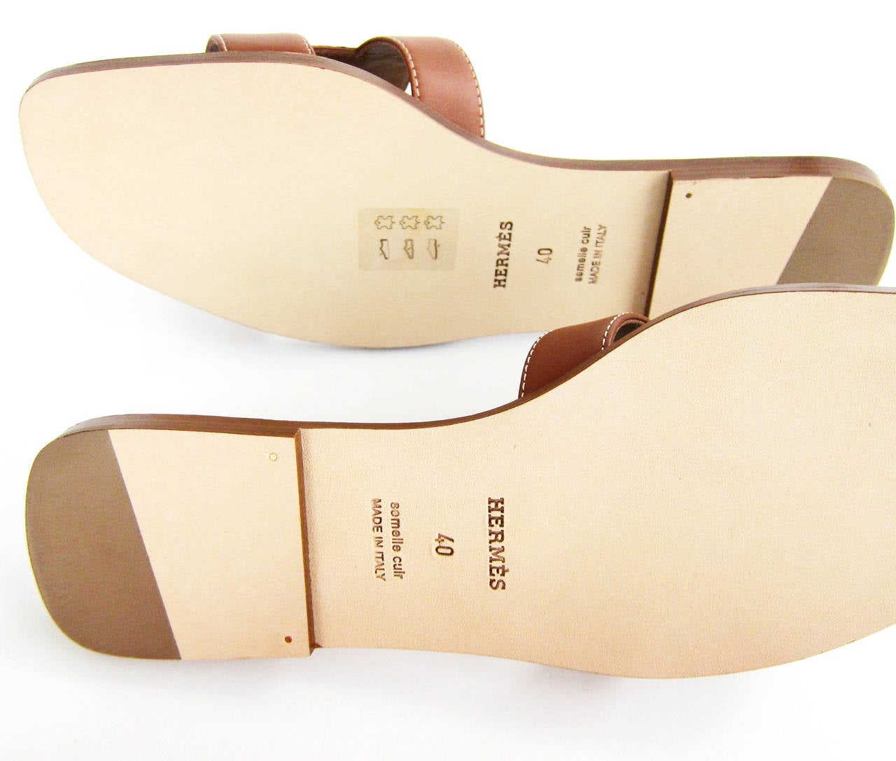 Hermes Gold Oran Box Leather Sandals Size 40 Summer 5