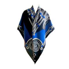 Hermes Brandebourgs Cashmere Silk Shawl GM 140cm