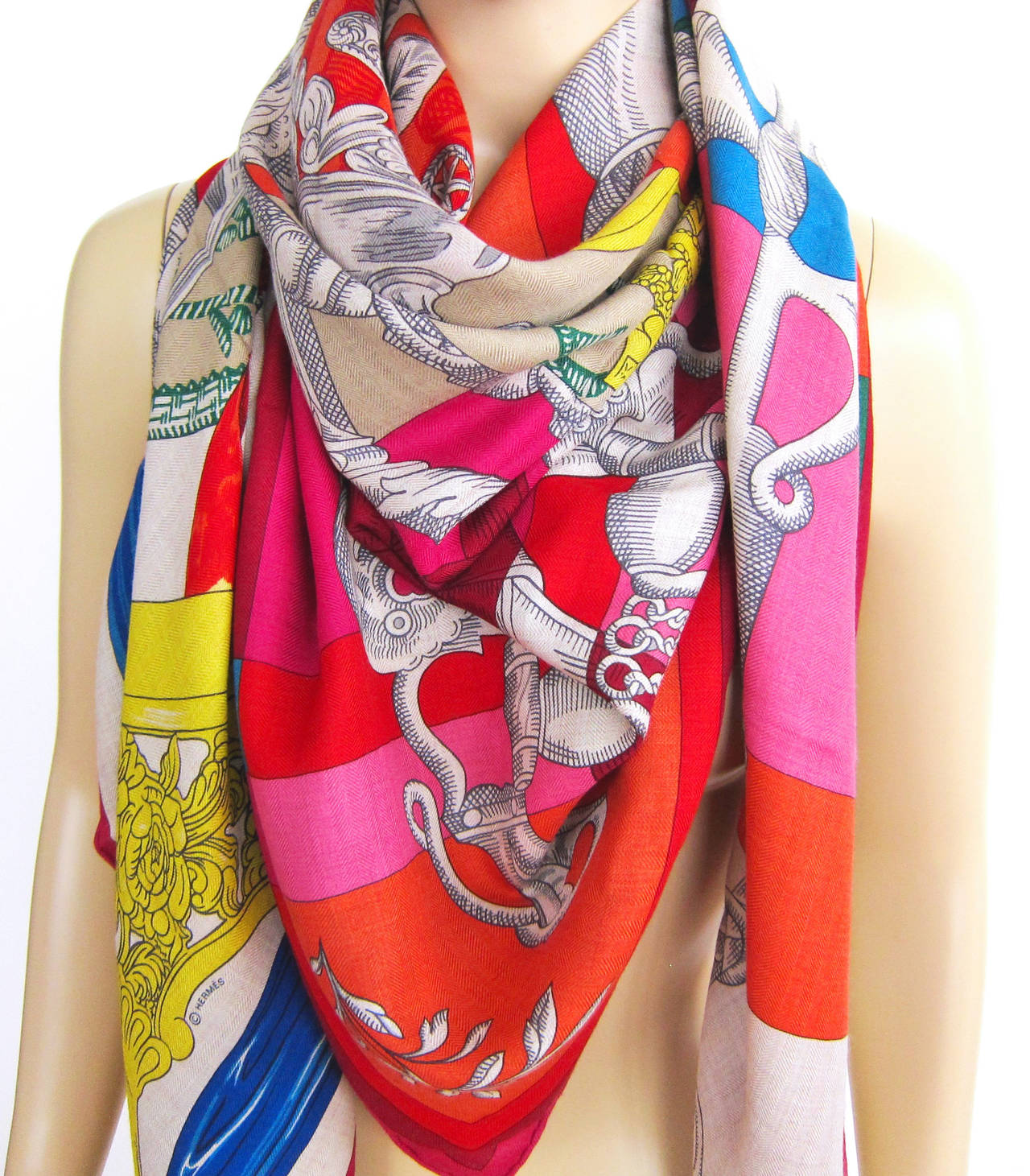 hermes shawl how to wear
