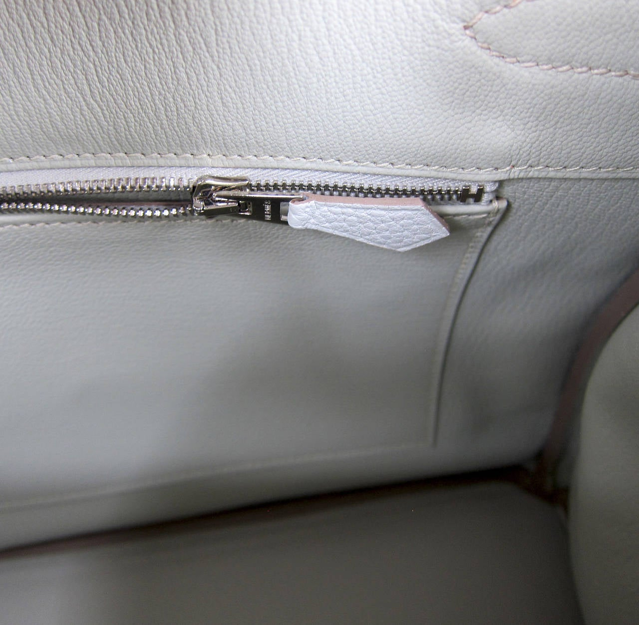 Hermes Gris Perle Fjord 35cm Birkin Bag Palladium Sophisticated 7