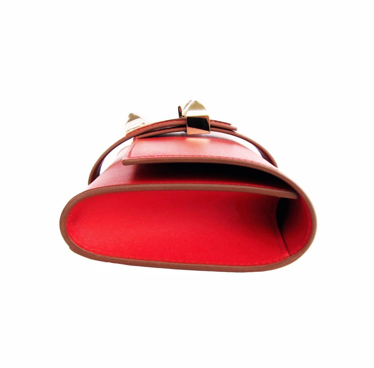 Hermes Sanguine Red Permabrass Medor Pochette Tadelakt Bag Clutch ...